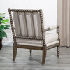DTY Indoor Living Silverthorne Spindle Chair Weathered Gray, Beige