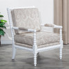 DTY Indoor Living Silverthorne Spindle Chair  White, Taupe Paisley