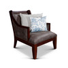 DTY Indoor Living Breckenridge Leather Accent Chair Gray Suede