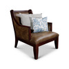 DTY Indoor Living Breckenridge Leather Accent Chair Rustic Brown