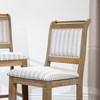 """DTY Indoor Living Centennial 24"""" Counter and 30"""" Bar Stool Beige Fabric with Gray Stripes"""