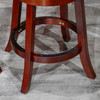 """Meeker Bonded Leather  X Back Swivel Stool, 24"""" Counter Stool or 30"""" Bar Stool"""