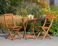 DTY Outdoor Living® Twin Lakes Eucalyptus 3-Piece Bistro Cafe Set