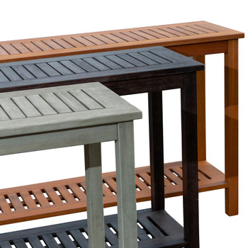 DTY Outdoor Living® Longs Peak Eucalyptus Console Table