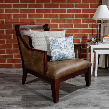 DTY Indoor Living Breckenridge Leather Accent Chair