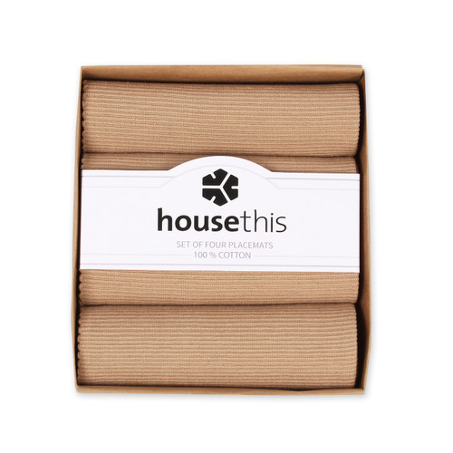 House This ® 100% Cotton Placemats, Set of 4, Perfect for Everyday and Fine Dining