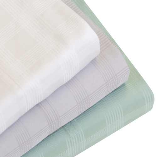 "DTY Bedding Premium Dobby Weave Bamboo Sheets, Luxuriously Soft and Comfortable 4-Piece Dobby Check Sheet Set Fits Mattresses up to 18"" Deep, 100% Bamboo Viscose"