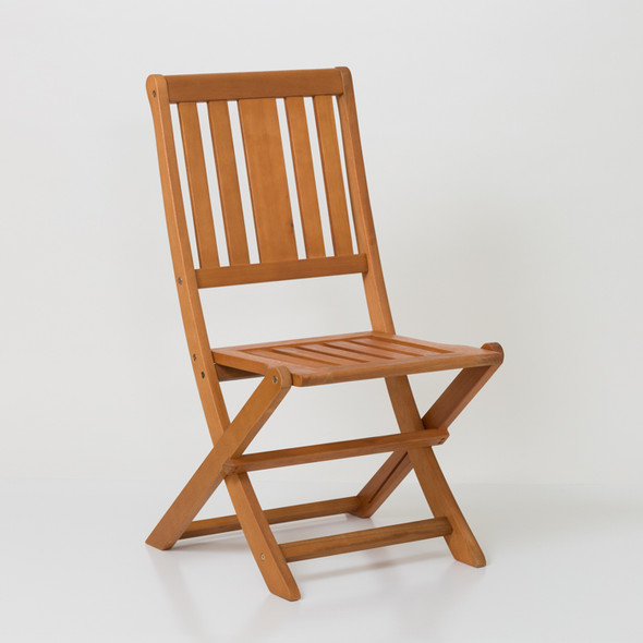 Eucalyptus Armless Folding Chair