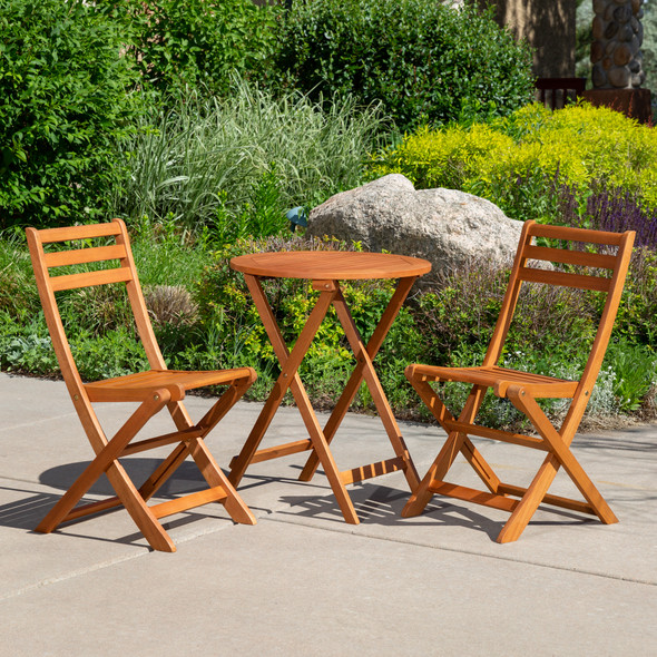 Twin Lakes Eucalyptus 3-Piece Café Bistro  Set