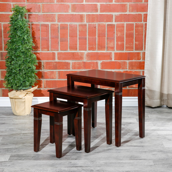 Golden 3-Piece Nesting Table Set