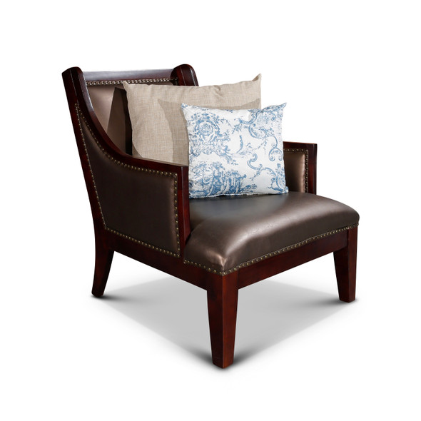 DTY Indoor Living Breckenridge Leather Accent Chair Elegant Bronze