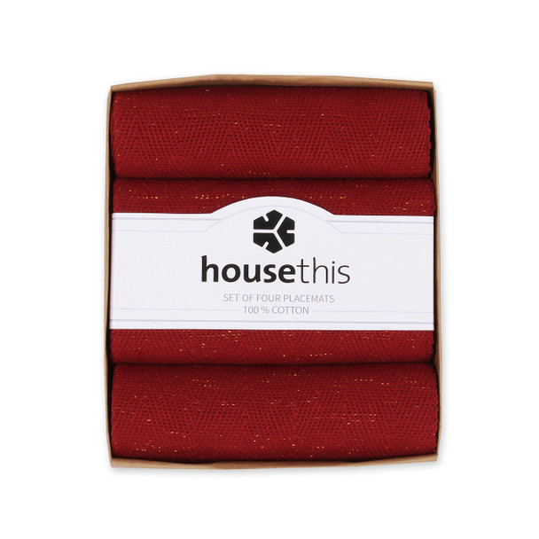House This ® 100% Cotton Luxe Placemats, Set of 4