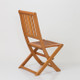 DTY Outdoor Living® Eucalyptus Armless Folding Chair