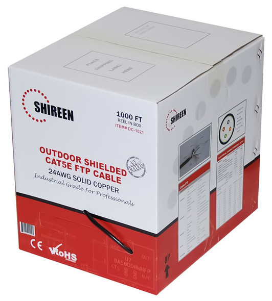 DC-1021 Outdoor CAT5e FTP - Shielded - 1000ft Spool