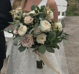 Blush, White, and Green Bouquet