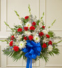 Red White And Blue Sympathy Funeral Basket Florist Pittsburgh Pennsylvania
