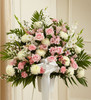 Heartfelt Sympathies Pink & White Funeral Basket Pittsburgh Pennsylvania Flower Delivery