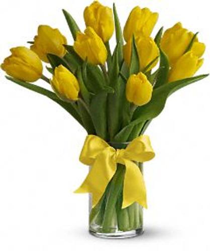 Yellow Tulip Vase