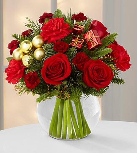 Holiday Gold Bouquet Pittsburgh Pennsylvania Florist