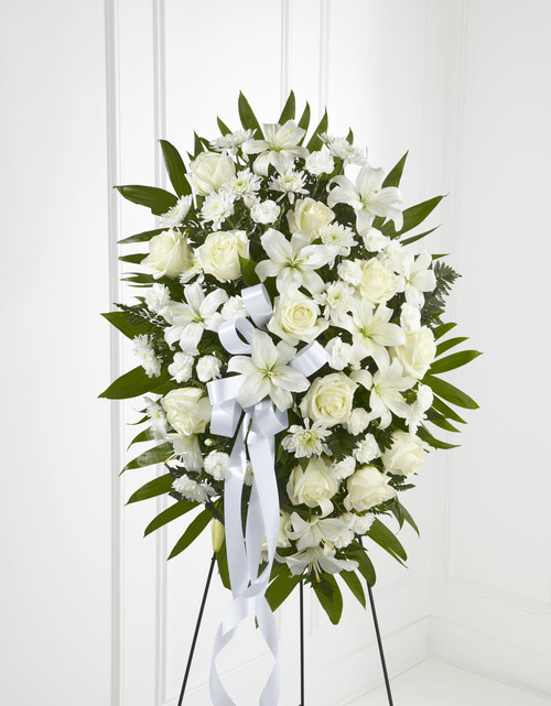 The Exquisite Tribute Standing Spray Flowers Pittsburgh Pennsylvania