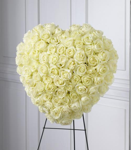 The Elegant Remembrance Standing Heart Flowers Pittsburgh Pennsylvania