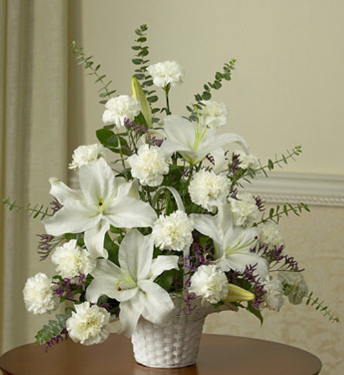 White Remembrance Basket