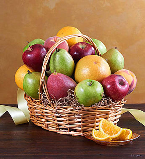 All Fruit Basket for Sympathy Send a thoughtful expression of your love and support to friends and family members with our tasteful basket of orchard-fresh fruit, carefully selected by our florists.