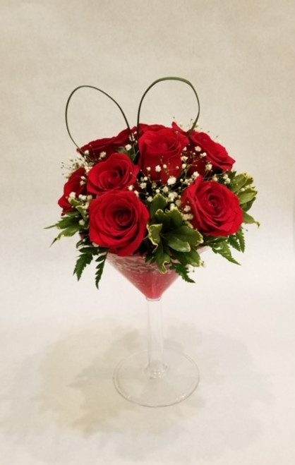 Red Rose Martini Bouquet