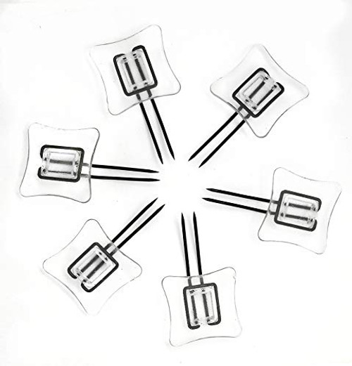 Rug Settlers Rug Pins Pack of 6 Rug Anchors Secure a Rug Over a Rug Anti Slip Pins for mats Runners Plastic Sheets and Throws