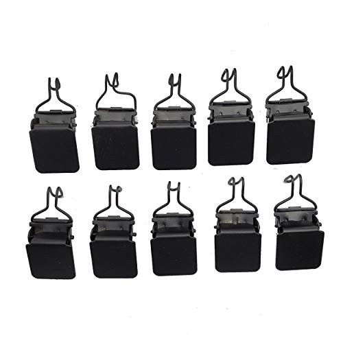 Small Tapestry Hangers (10 Pieces) Black Hook Based Clips for Wall Hanging Rugs and Paintings by Wise Linkers