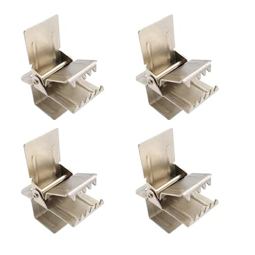 Rug Clips Extra Heavy Duty Wide Opening for Thick SHAG Rugs 4 Pcs Rug Hangers WISE LINKERS