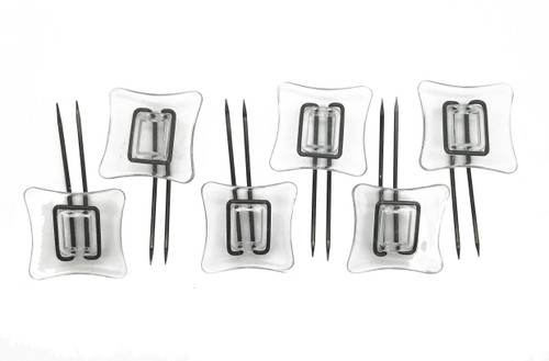 Rug Settlers Rug Pins Designed For Thick Overlay Pack of 6 Rug Anchors Secure a thick Rug Over a Regular Rug Anti Slip Pins for mats Runners Plastic Sheets and Throws