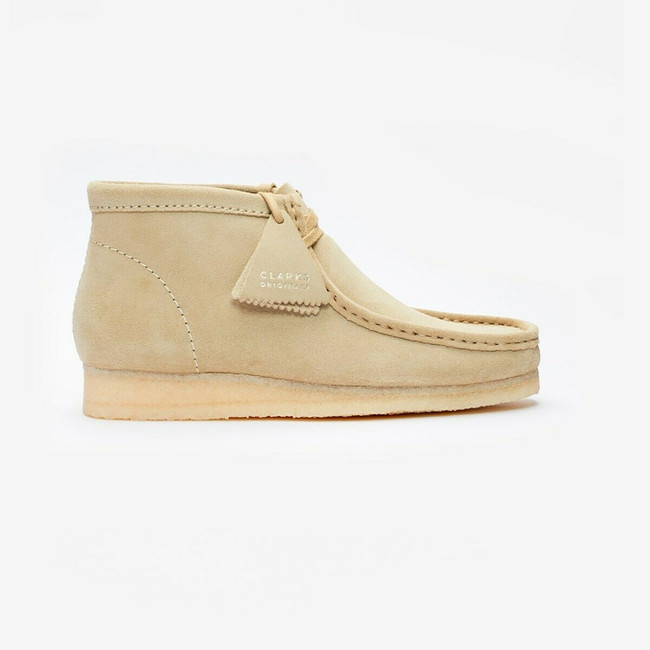 CLARK WALLABEE BOOT MAPLE SUEDE