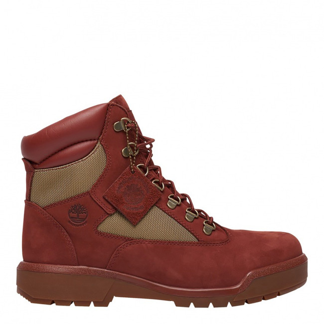 TIMBERLAND MENS 6INCH WATERPROOF FIELD BOOTS RUST