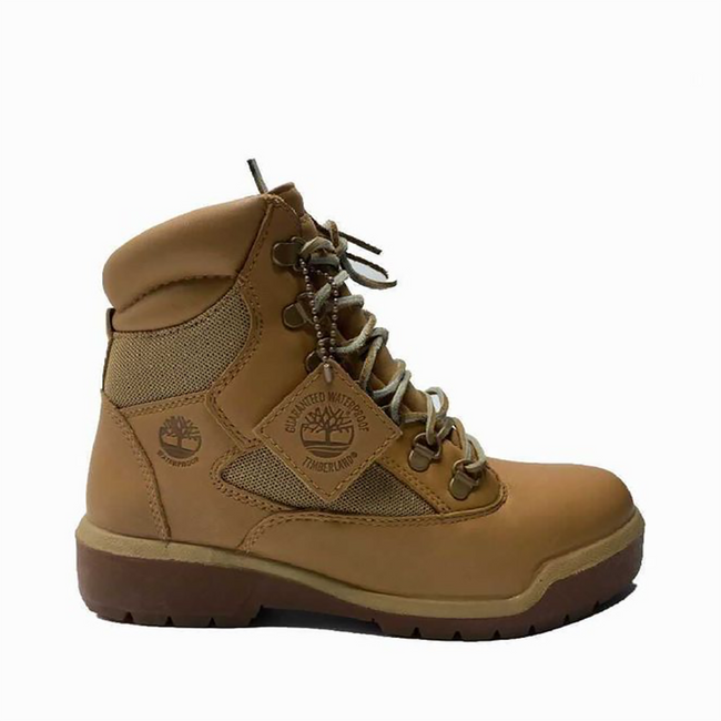 TIMBERLAND MENS 6INCH WATERPROOF FIELD BOOTS BROWN