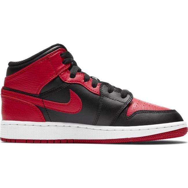 Air Jordan 1 Mid (GS) BLACK/GYM RED-WHITE
