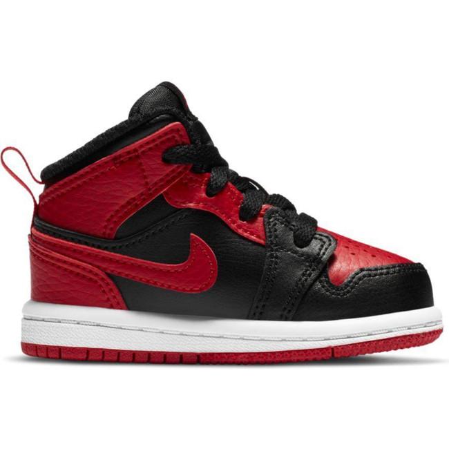 Jordan 1 Mid (TD) BLACK/GYM RED-WHITE