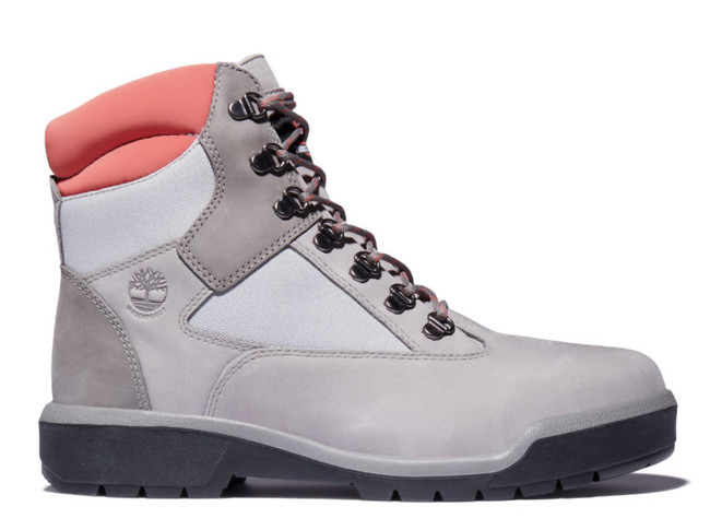 TIMBERLAND Men's Field Boot 6-Inch Waterproof Leather/Fabric Boots MEDIUM GREY NUBUCK
