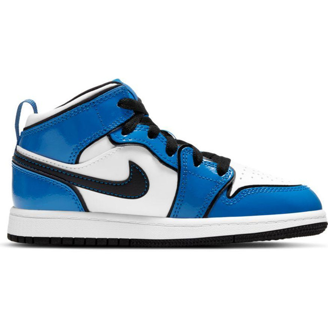 Jordan 1 Mid SE  (PS) SIGNAL BLUE/BLACK-WHITE