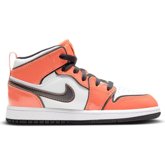 Jordan 1 Mid SE  (PS) TURF ORANGE/BLACK-WHITE