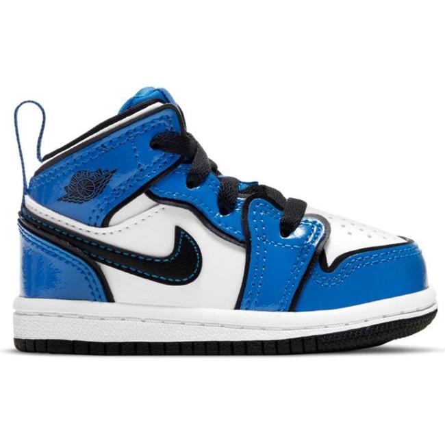 Jordan 1 Mid SE SIGNAL (TD) BLUE/BLACK-WHITE