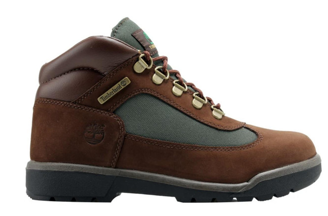 Timberland Field Boot L/F Mid Boot (JUNIOR) BROWN NUBUCK/OLIVE