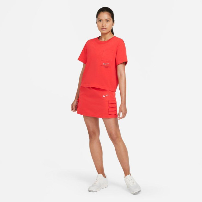 Nike Sportswear Swoosh Women's Skirt LT CRIMSON