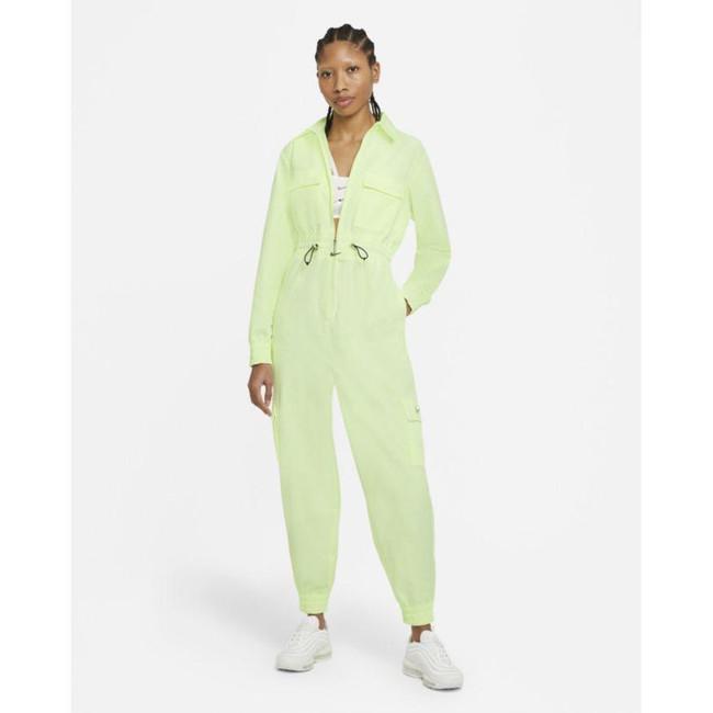 Nike Sportswear Swoosh Women's Utility Jumpsuit BARELY VOLT/WHITE