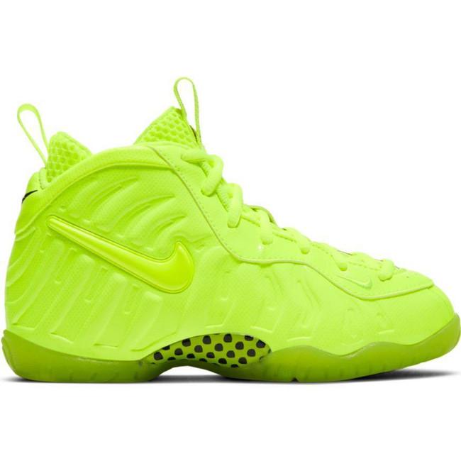 Boys' Nike Little Posite Pro (PS) Pre-School Shoe VOLT/VOLT-VOLT-BLACK