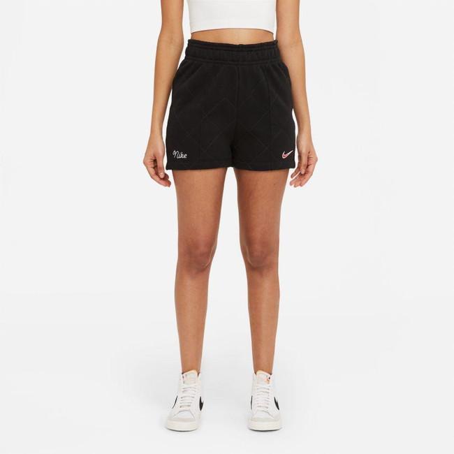 Women's Nike NSW Fleece Shorts-BLACK
