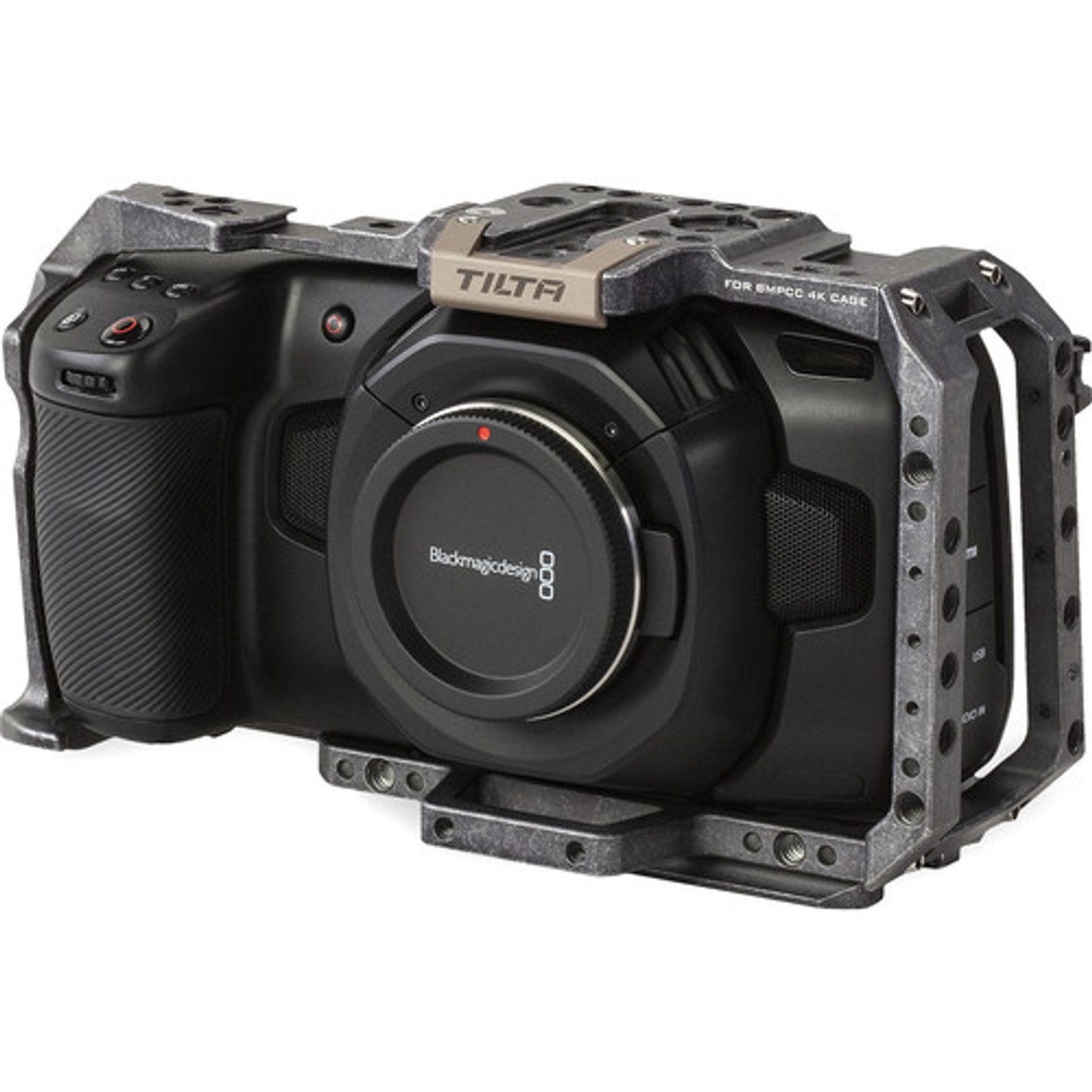 Tilta Full Camera Cage For Blackmagic Design Pocket Cinema Camera 4k 6k Tactical Gray