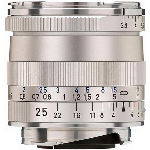 Zeiss Wide Angle 25mm f/2 8 Biogon T* ZM Manual Focus Lens for Zeiss Ikon  and Leica M Mount Rangefinder Cameras - Silver