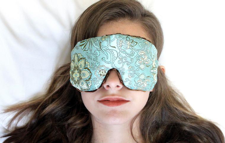 Sleep Eye Mask Pillow - Blue Lagoon