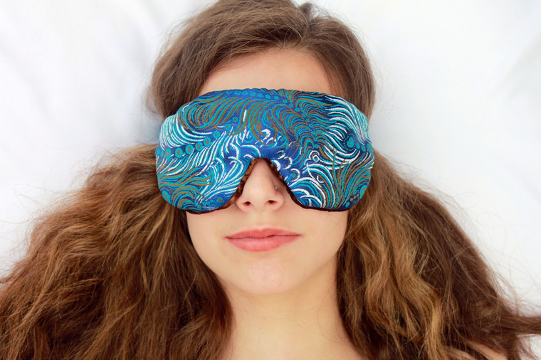 Dark Turquoise Sleep Eye Mask by Candi Andi